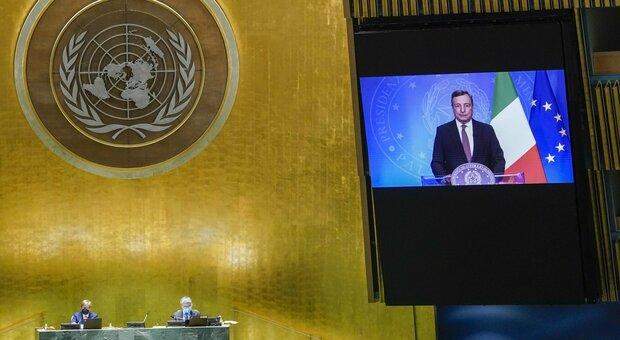Draghi all'Onu: «Il G20 sull'Afghanistan si farà»