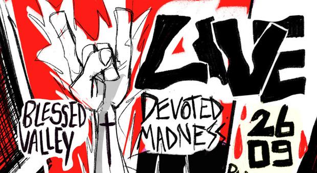 Concerto rap e metal al parco di via Liberato di Benedetto: sul palco Blessed Valley e Devoted Madness