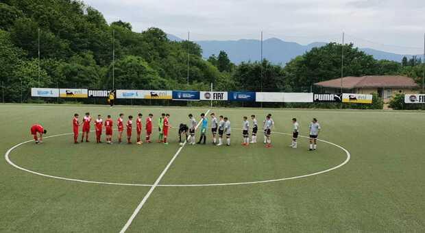 Un momento di una sfida dell'U17 del Cantalice (foto Polisportiva Cantalice).