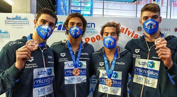 Europei Budapest 2021, record di Miressi: bronzo agli azzurri nella 4x100 stile libero