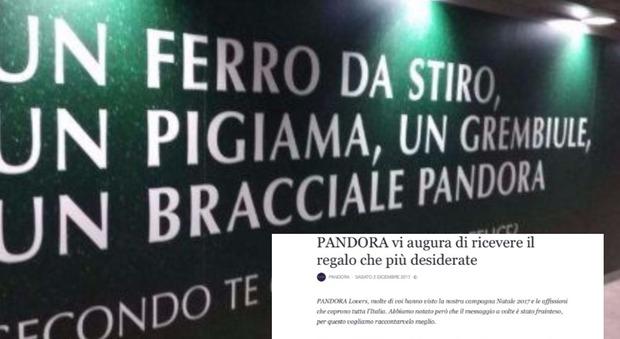 Pandora nella bufera, accuse di sessismo per il cartellone pubblicitario
