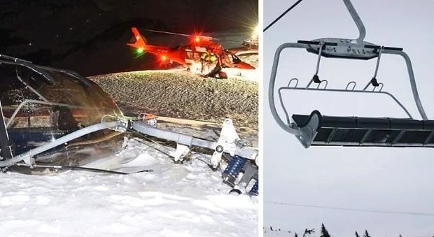 Seggiovia precipita in Svizzera: 4 feriti gravi, due rischiano la vita. Erano in gita con Lindt