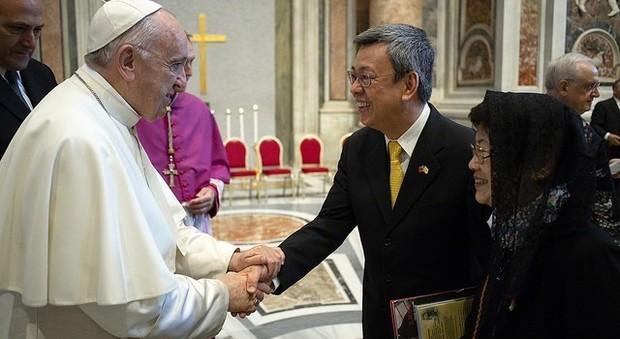 l'incontro tra il Papa e il vice presidente di Taiwan (Photo Osservatore Romano)