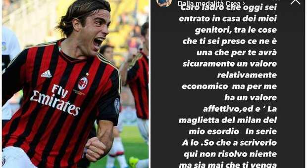 Alessandro Matri, rubata la maglia del Milan dell'esordio in Serie A: «Caro ladro, riportamela»