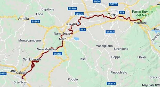 Google Maps bocciato in geografia: «Il fiume Nera nasce dalla cascata delle Marmore a Terni»