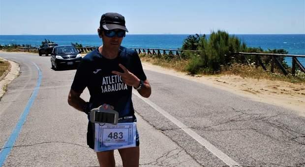 Gennaro Oliva durante i cento chilometri