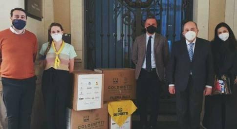 Coldiretti Rieti a Pasqua porta in tavola la solidarietà: consegnati oltre 40 quintali di prodotti a 70 Comuni