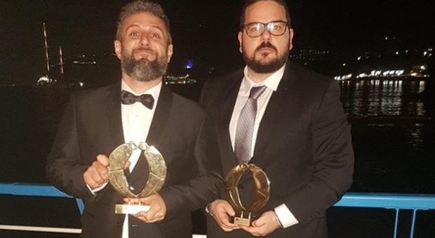 """Ecco """"I Lunatici"""" Roberto Arduini e Andrea Di Ciancio con il premio Biagio Agnes"""