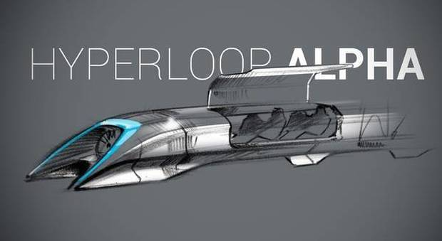 ll progetto del treno Hyperloop (foto Hyperloop)