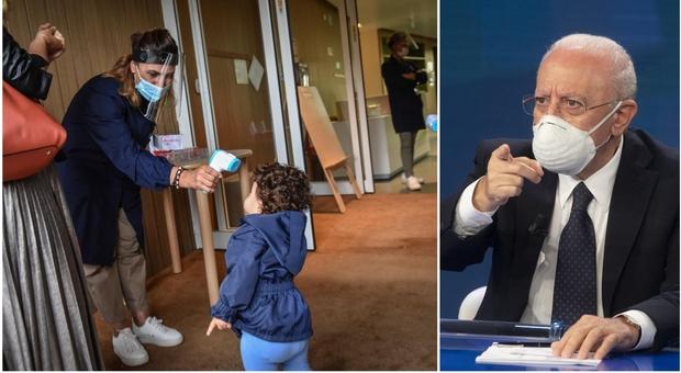 Covid Campania, De Luca chiude anche le scuole materne: da lunedì stop fino al 14 novembre