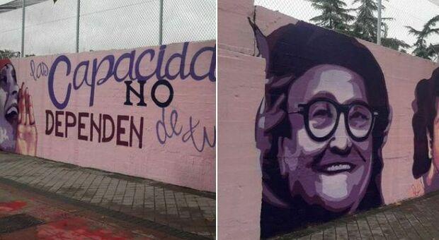 Madrid, battaglia sul murales femminista. Vox e la destra vogliono rimuoverlo: «É politico»