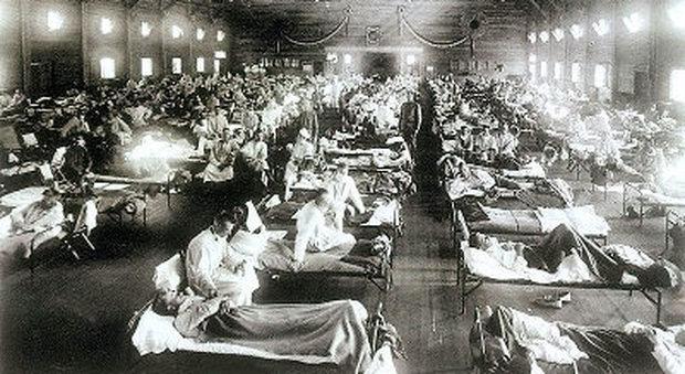 I malati di influenza spagnola nel 1918 negli Stati Uniti
