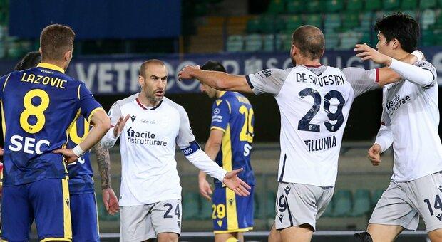 Il Verona ripreso due volte dal Bologna al Bentegodi: 2-2 e rimonta firmata da Palacio