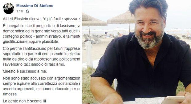 Assessore Di Stefano posta frasi e foto di Mussolini su Fb, poi le dimissioni. Il sindaco: «Gesto di maturità»