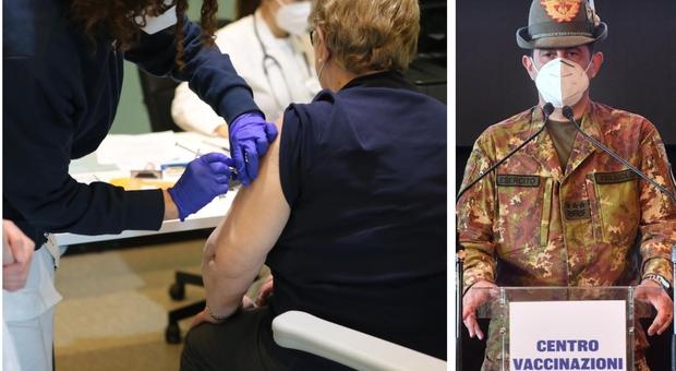 Vaccini, il commissario Figliuolo: «Obiettivo 80% di vaccinati a settembre, così otterremo l'immunità di gregge»