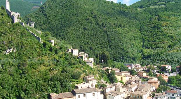 Una panoramica di Ferentillo