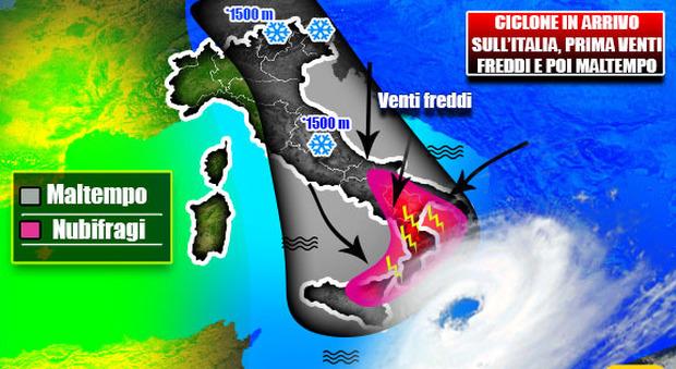 Meteo, arriva il freddo artico: sabato punte di 28°, poi il crollo termico