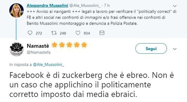 Alessandra Mussolini sfida gli