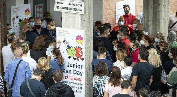 Junior Open Day sold out a Rieti, dosi raddoppiate. Vaccini Lazio, ieri record di 65mila dosi