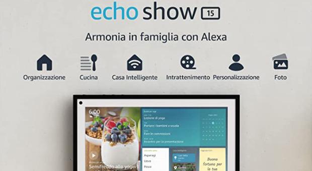 """Echo Show 15, il nuovo """"cuore"""" della casa intelligente: organizzazione e intrattenimento per tutta la famiglia"""