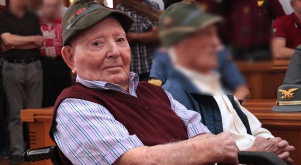 Addio all'alpino più vecchio d'Italia: Luigi aveva 110 anni, era nato in Trentino