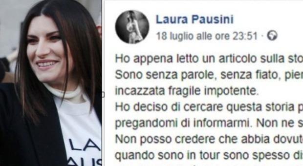 Bibbiano, Laura Pausini insiste: «Fate qualcosa, non perdete tempo a scrivere c...te»