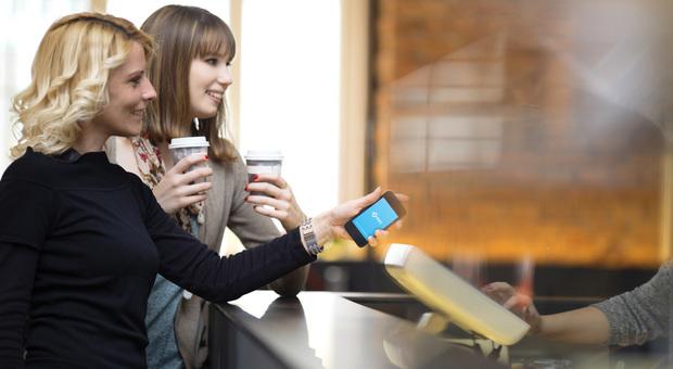 Un pagamento tramite Bancomat Pay