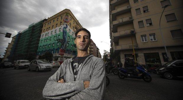 A Roma il più grande murale d'Europa anti-smog