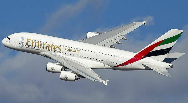 Un Airbus A-380 della Emirates