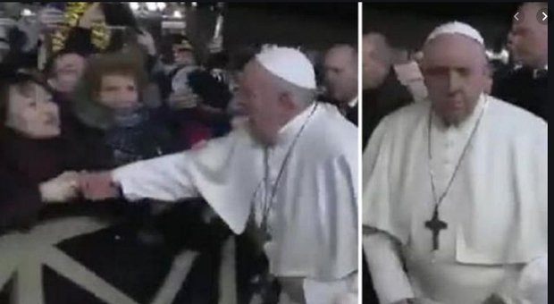 Papa Francesco, scuse dopo gli schiaffi alla fedele: «A volte perdo la pazienza»
