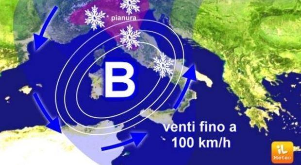 La nuova perturbazione porterà la neve anche in pianura