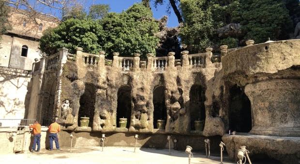 Tivoli, nelle Ville solo visite virtuali: si approfitta dello stop per sistemare le fontane