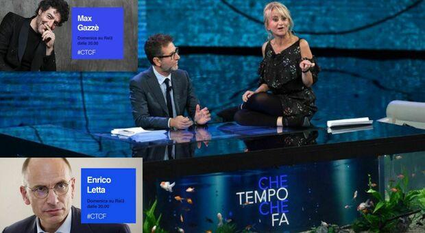 Che tempo che fa, stasera in tv su Rai3: ospiti Enrico Letta, Max Gazzè, Mollica e Diodato (omaggio a Battiato)