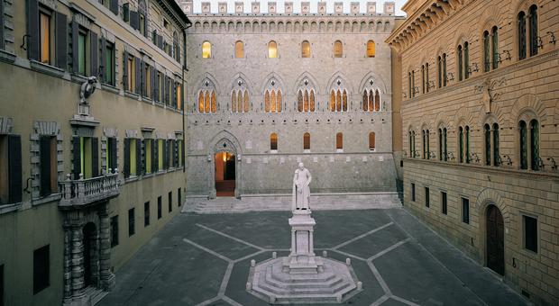 La sede di Mps a piazza Salimbeni a Siena