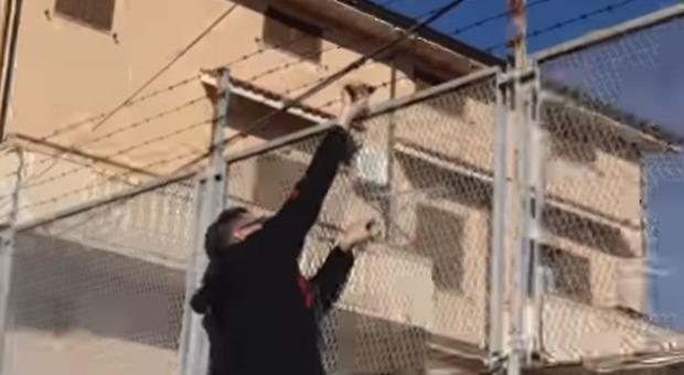 Klaus Davi spezza il filo spinato della villa del boss della 'Ndrangheta: «Lo Stato intervenga»
