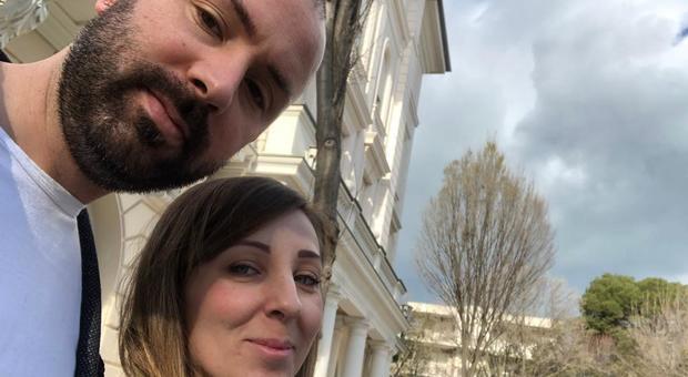 Simone Nardoni con la moglie Ilary Mandatori