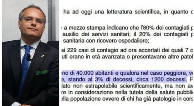 «Coronavirus, a Saronno si rischiano 1.200 morti». Bufera sul sindaco (che poi si scusa)