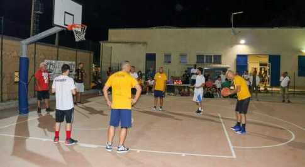 Una fase del basket 3vs3 (foto Simone Paolucci)