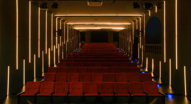 La sala vuota dell'OFF/OFF Theatre di Roma, diretto da Silvano Spada