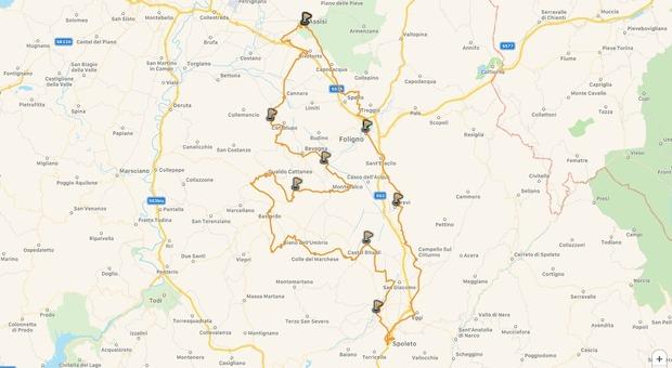 """Foligno, il rilancio si fa in bicicletta tra la Fascia Olivata e le colline del Sagrantino lungo i 166 chilometri della """"Ciclovia la Francescana"""""""
