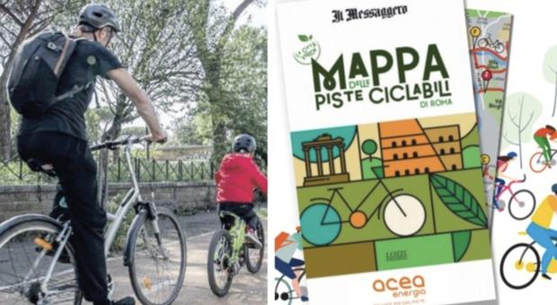 """Ostia, domenica in edicola con """"Il Messaggero"""" la mappa grande formato delle ciclabili di Roma"""