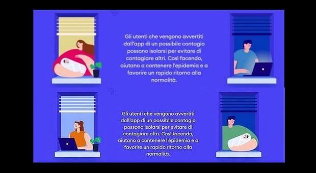 App Immuni, accuse di sessismo: cambiano le immagini del papà con pc e mamma con bimbo