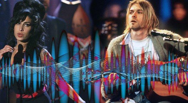 Amy Winehouse e Kurt Cobain