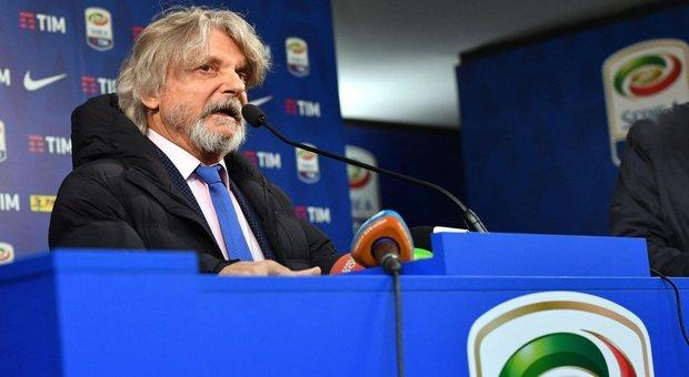 Genova, l'appello di Ferrero: «Si fermi la Serie A, ok della Juve»