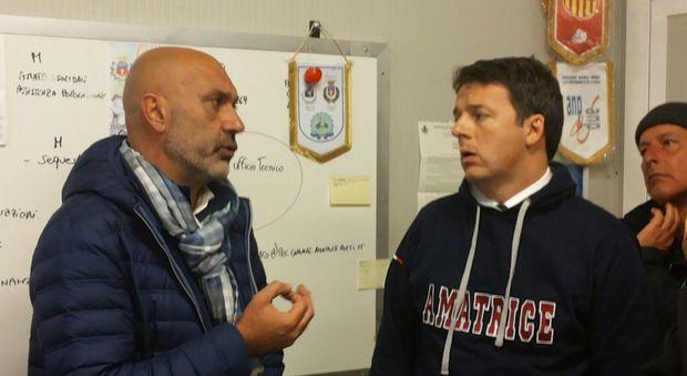 Sergio Pirozzi e Matteo Renzi