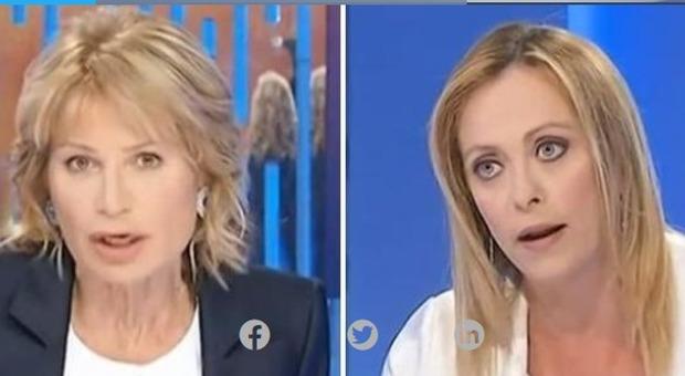 La 7, Lilli Gruber attacca Giorgia Meloni: «Sta dicendo schiocchezze». La replica: «Stufa di questo atteggiamento»