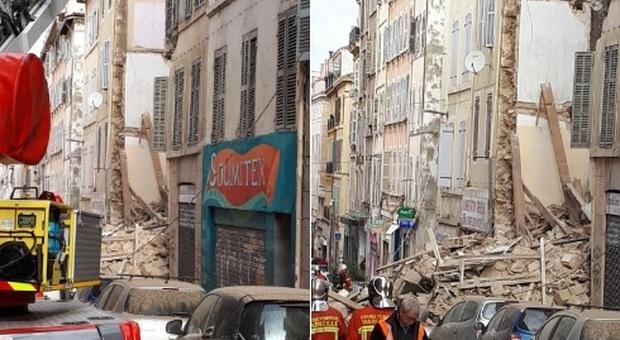 Marsiglia choc, crollano due palazzine in centro: si scava per cercare sopravvissuti