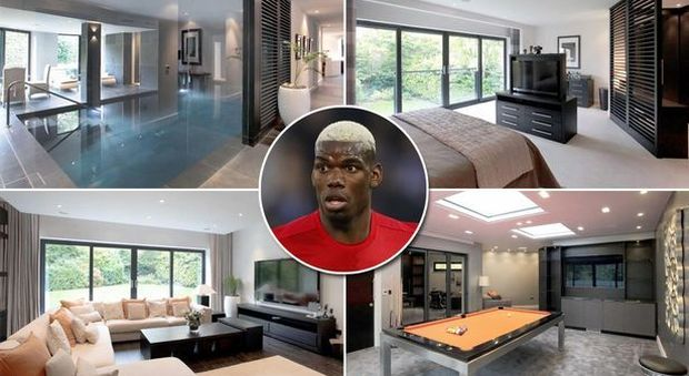 Paul pogba compra super villa da tre milioni di euro con piscina interna e stanza dei giochi - Piscina interna casa ...