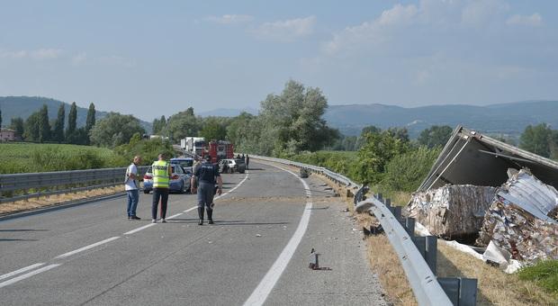 L'incidente sulla Rieti-Terni