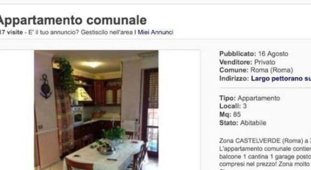 A a a vendesi appartamento on line ma una casa for Vendesi appartamento a roma